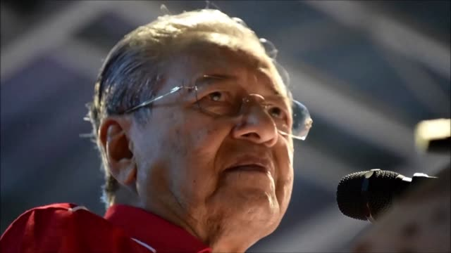 malaysia's veteran ex leader mahathir mohamad will run at an upcoming general election on the holiday island of langkawi the opposition announced... - langkawi stock videos and b-roll footage