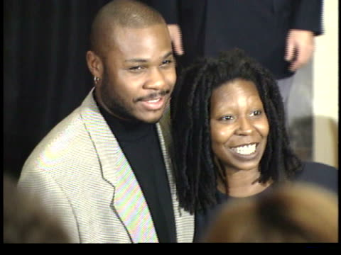 malcolm jamal warner and whoopi goldberg posing for paparazzi on red carpet - friars roast 1993 stock videos and b-roll footage