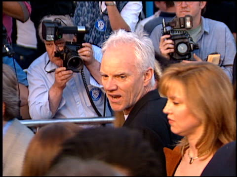 malcolm mcdowell at the 'twister' premiere on may 8 1996 - twister 1996 film stock videos and b-roll footage