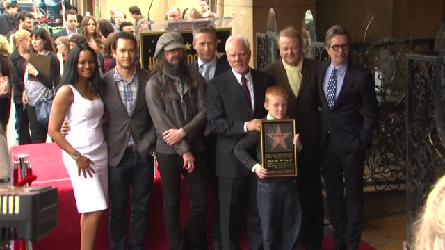 malcolm mcdowell garcelle beauvais reed diamond markpaul gosselaar rob zombie and gary oldman at malcolm mcdowell honored with star on the hollywood... - rob zombie stock videos & royalty-free footage