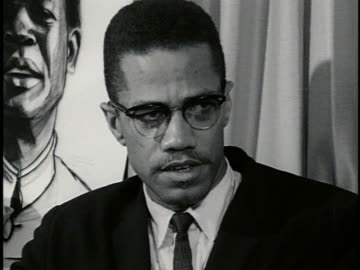 malcolm x advocates a black guerrilla army in the southern us, saying it could conduct a campaign of terror against the ku klux klan. - united states and (politics or government) stock videos & royalty-free footage