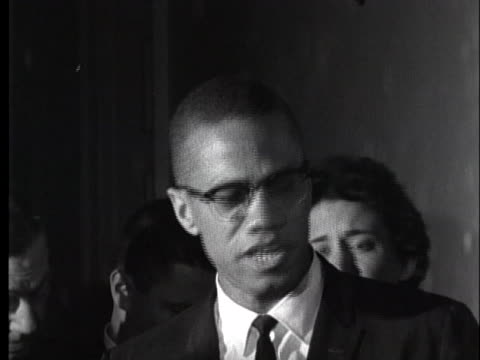 malcolm x criticizes us president john f. kennedy for denouncing black muslims but failing to denounce white groups as well. - 1963 stock videos & royalty-free footage