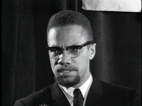 stockvideo's en b-roll-footage met malcolm x praises the mau mau terrorist group in kenya, calling it a defensive group pitted against oppressors. - war or terrorism or military