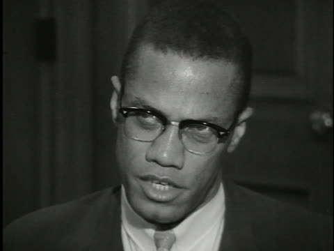 malcolm x says white people feel guilty about their treatment of black people, and that black people should unite and solve their own problems rather... - united states and (politics or government) stock videos & royalty-free footage