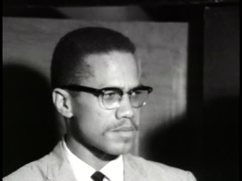 malcolm x speaks about seeing muslims of various races while on pilgrimage in mecca, which contradicts the teachings of elijah muhammad, and says... - united states and (politics or government) stock videos & royalty-free footage