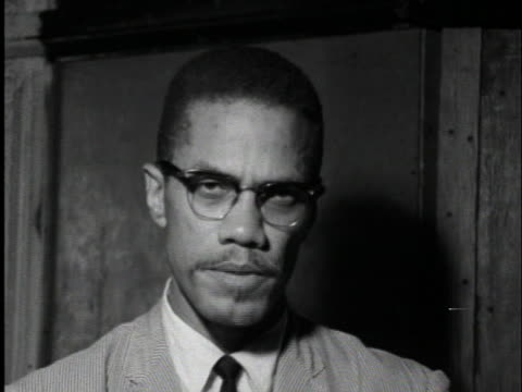 malcolm x talks about the passage of the civil rights laws in the united states and voter registration - jim crow laws stock videos & royalty-free footage