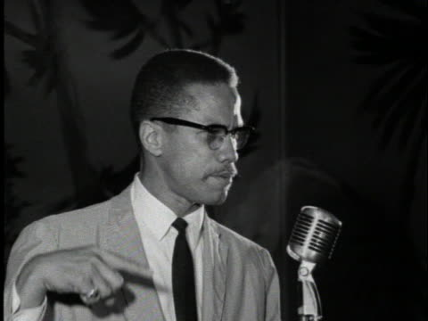 malcolm x talks about the passage of the civil rights laws in the united states - jim crow laws stock videos & royalty-free footage