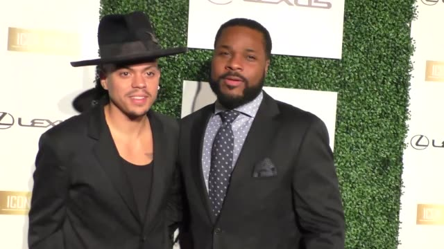 malcolm-jamal warner and evan ross at icon mann's 4th annual power 50 dinner at mr. c in beverly hills at celebrity sightings in los angeles on... - malcolm jamal warner stock videos & royalty-free footage