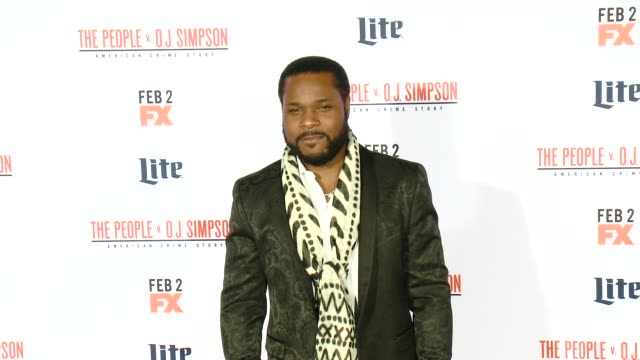 malcolmjamal warner at fx's the people v oj simpson american crime story premiere at westwood village theatre on january 27 2016 in westwood... - westwood village stock-videos und b-roll-filmmaterial