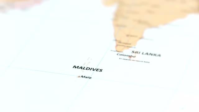 世界地図アジア モルディブ