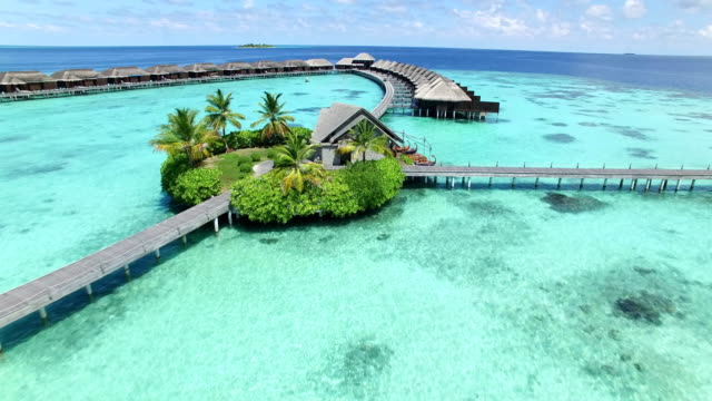 maldives, tropical paradise - ayada island - tourist resort stock videos and b-roll footage