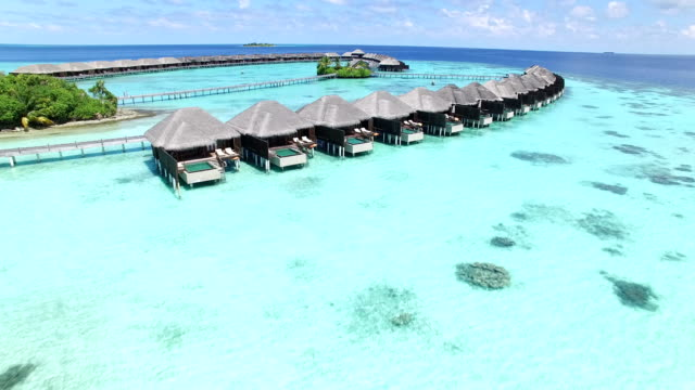 maldives, tropical paradise - ayada island - tourist resort stock videos & royalty-free footage