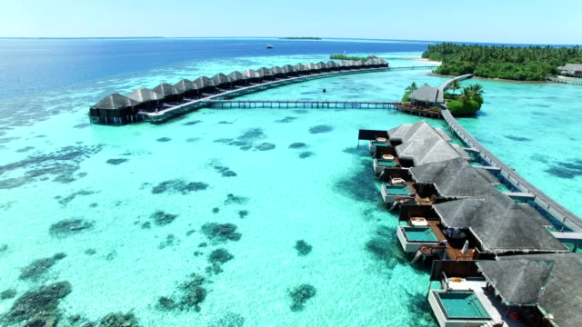 maldives, tropical paradise - ayada island - caribbean sea stock videos & royalty-free footage