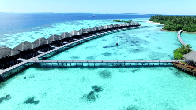 maldives, tropical paradise - ayada island - turquoise colored stock videos & royalty-free footage
