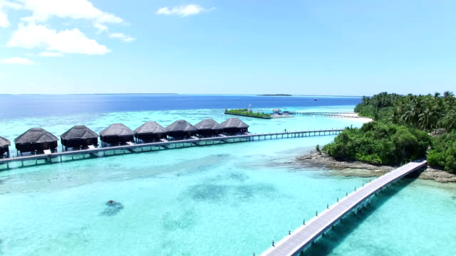 maldives, tropical paradise - ayada island - luxury stock videos & royalty-free footage