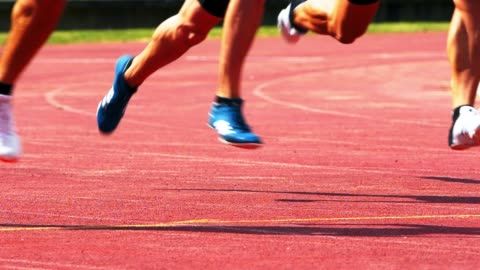 male 400 m sprinters running the curve - track and field stock videos & royalty-free footage