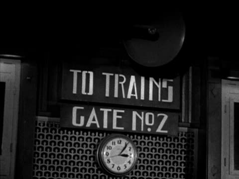 Male announcing 'last call' on speaker microphone 'gate no 2' female passenger boarding w/ luggage workers signaling engineer pulling lever boy pulls...