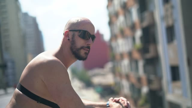 male athlete portrait at minhocao, sao paulo, brazil - pardo brazilian stock videos & royalty-free footage
