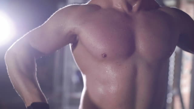 vidéos et rushes de male athlete weightlifting/ mielec/ poland - musculation