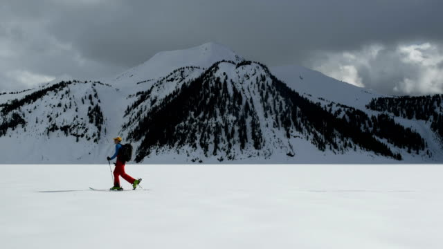 male backcountry ski touring - winter sport stock videos and b-roll footage