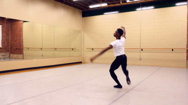ms male ballet dancer practicing in dance studio - rehearsal stock videos & royalty-free footage