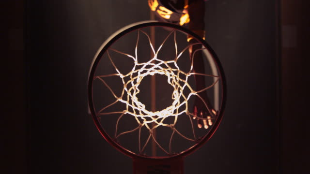 ha cu male basketball player slam dunking - net sports equipment stock videos & royalty-free footage