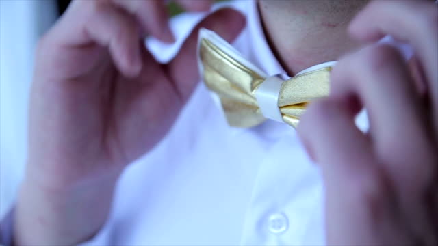 stockvideo's en b-roll-footage met male bow tie - overhemd