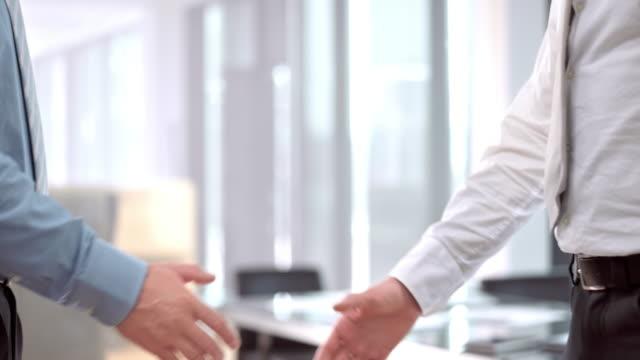 SLO MO DS Male business handshake