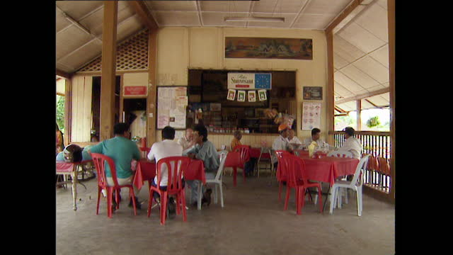 male customers at an outdoor cafe in kuala lumpur; 1996 - 1996 stock videos & royalty-free footage