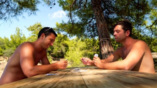 Männliche Freunde Spielkarten