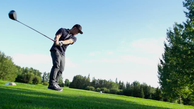male golfer - golf swing stock videos & royalty-free footage