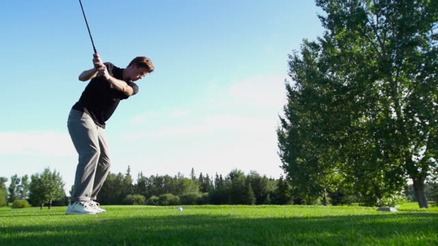 male golfing - golf swing stock videos & royalty-free footage