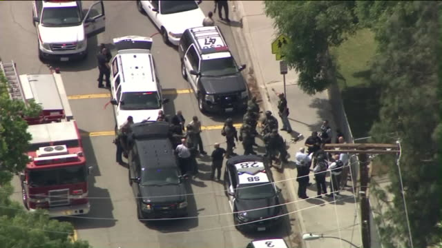 KTLA A male gunman and female adult victim were found dead in a classroom and two students are hospitalized in critical condition after the shooter...