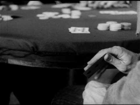 gambling poker cheating male hand sliding playing card off table pulling ace card out of sleeve palming it vo 'jack o'diamonds' that saintly look of... - ace stock videos and b-roll footage
