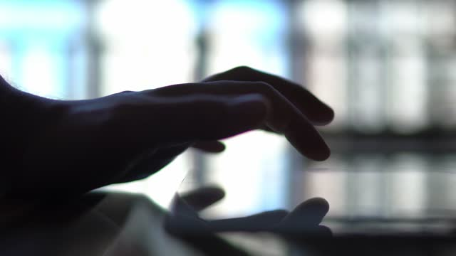 male hand using digital tablet / smartphone - touchpad stock videos & royalty-free footage
