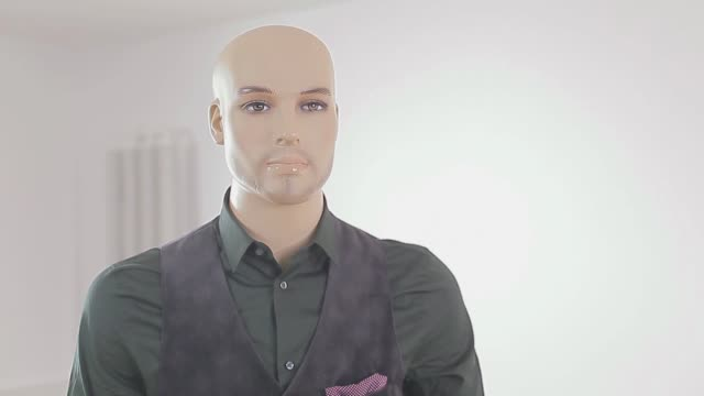 male mannequin - balding stock videos & royalty-free footage