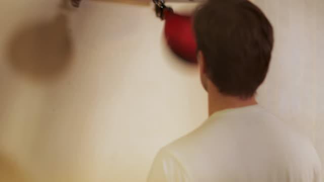 Male Punching Speed Bag