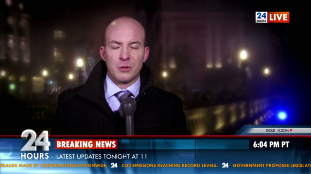 hd: male reporter on location - tv reporter stock videos & royalty-free footage