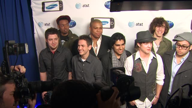 male semifinalists at the 'american idol' top 24 semifinalists event at west hollywood ca - american idol stock videos and b-roll footage