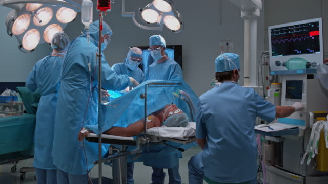 DS Male senior patient in surgery in the operating room