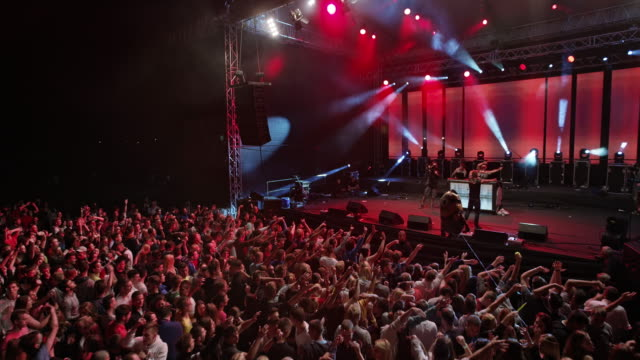 cs male singer performing on stage with dj - concert crowd stock videos & royalty-free footage