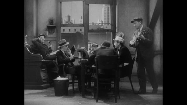 1931 male staff in newspaper office become irritated by coworker's banjo - banjo stock videos & royalty-free footage