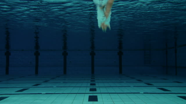 male swimmer jumping into pool - pool stock videos & royalty-free footage