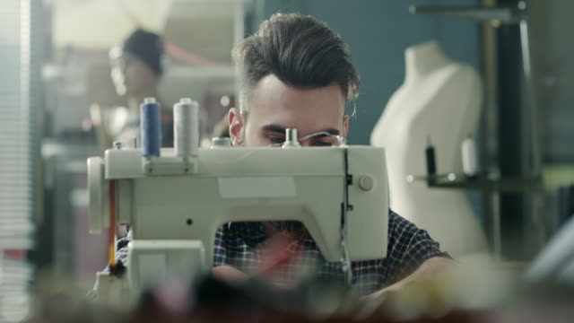 male tailor - sewing machine stock videos & royalty-free footage