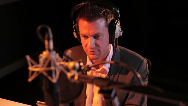 Male talk radio news presenter