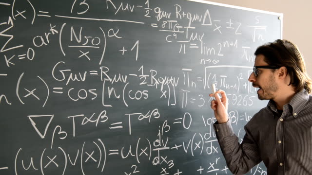 male teacher explaning mathematics - professor stock videos & royalty-free footage