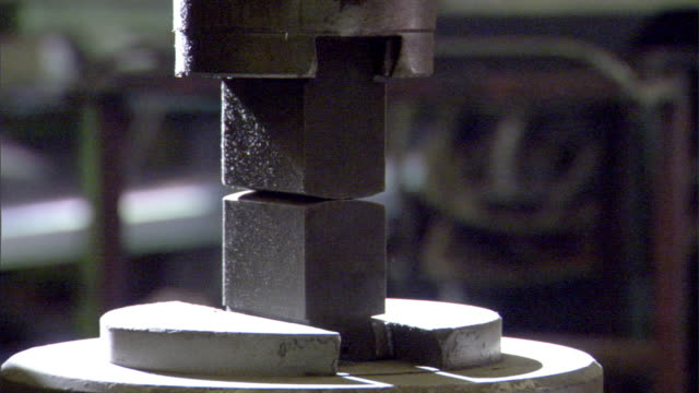 male torso in, out of frame. impact tool for shaping hot metal, automatic hammer. tool raising top part, rapid jerking movements toward bottom.... - torso stock videos & royalty-free footage