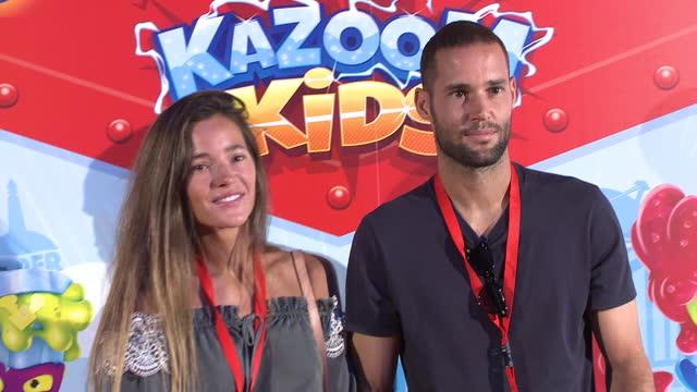 malena costa and mario suarez attend 'kazoom kids' photocall at espacio 5.1 - マレーナ コスタ点の映像素材/bロール