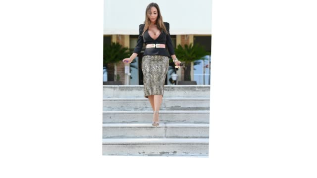 venice italy september 11 malena is seen arriving at the 77th venice film festival on september 11 2020 in venice italy - gif stock videos & royalty-free footage