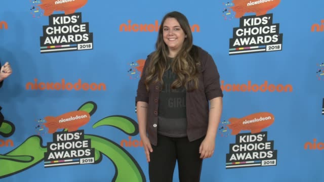 malena nunes at the nickelodeon's 2018 kids' choice awards at the forum on march 24, 2018 in inglewood, california. - nickelodeon stock videos & royalty-free footage